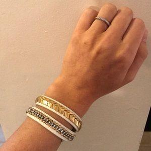 Stella & Dot Gilded Path Double Wrap Bracelet
